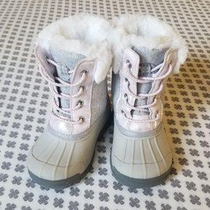OshKosh Grey/Pink Winter Snow Boot